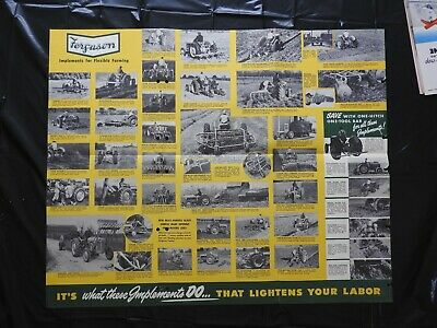 AU50.64 • Buy 1950  The Ferguson Tractor Finger-tip Implements  Fold-out Poster Brochure