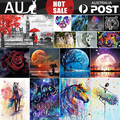 AU12.55 • Buy 5D Diamond Painting Embroidery Cross Craft Stitch Pictures Arts Kit Mural Decor