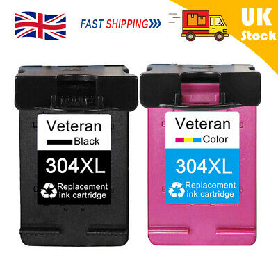 304XL Ink Cartridges Refilled Replacement For HP Deskjet Envy 2620 5010 Printers • 18.57£