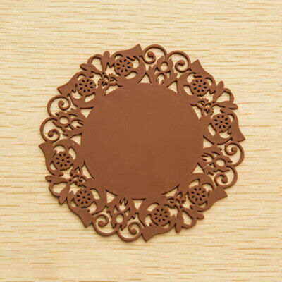 8pcs Lace Flower Hollow Doilies Coaster Coffee Table Mat Pad Silicone Placemat • 4.97£