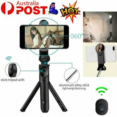 AU12.36 • Buy Telescopic Smartphone Video Tripod Stand With Phone Clip Holder Mount GD
