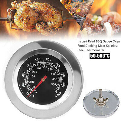 100-1000℉ Thermometer Outdoor Cook Barbecue BBQ Grill Oven Temperature Gauge UK • 6.13£