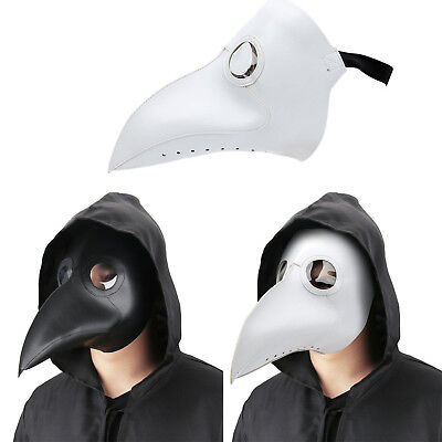 PU Plague Doctor Mask - Long Nose Bird Beak Steampunk Halloween Costume Props • 11.68£