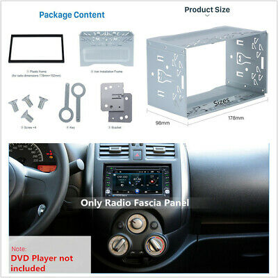 $20.29 • Buy Double DIN Metal Car Stereo Radio Player Fascia Mounting Installation Frame Kit