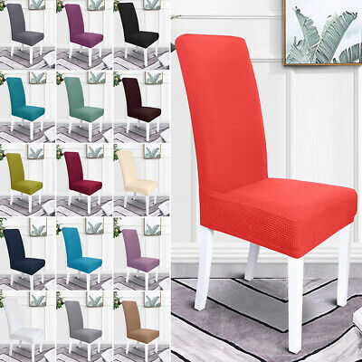 AU32.59 • Buy 1/2/4/6PC Dining Chair Covers Stretch Chair Slipcover Removable Chair Protector