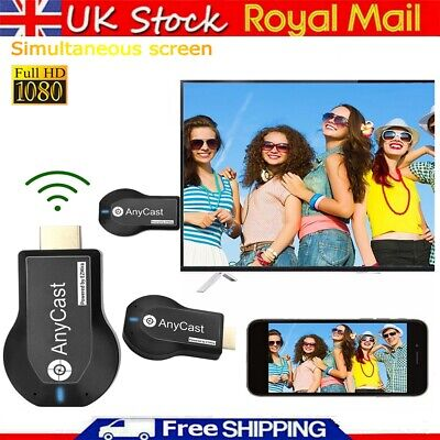 Wireless Mirascreen WiFi Display TV Dongle Receiver Media Airplay Miracast 1080P • 8.99£