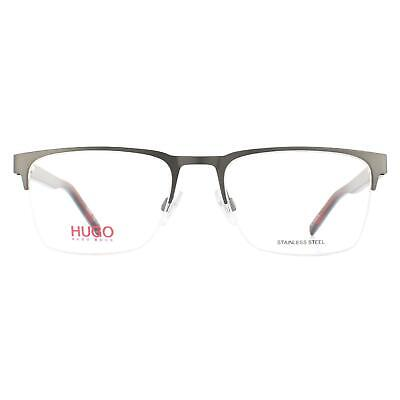Hugo By Hugo Boss Glasses Frames HG 1076 R80 Matte Dark Ruthenium • 54£