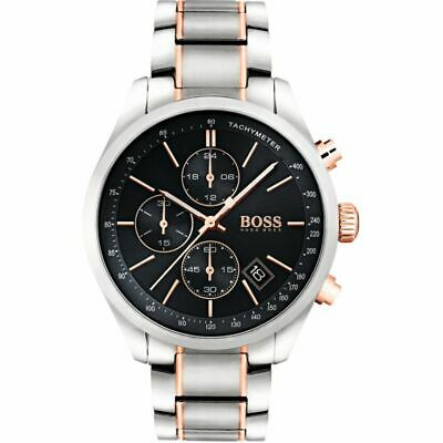 Brand New Men's Hugo Boss  Watch HB1513473 - Grand Prix Silver Chronograph  • 94£