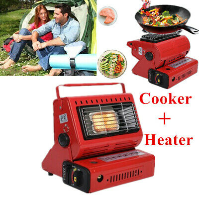 AU62.99 • Buy Portable 2 In 1 Outdoor Camping Gas Heater & Cooker Stove For Butane Gas Burner