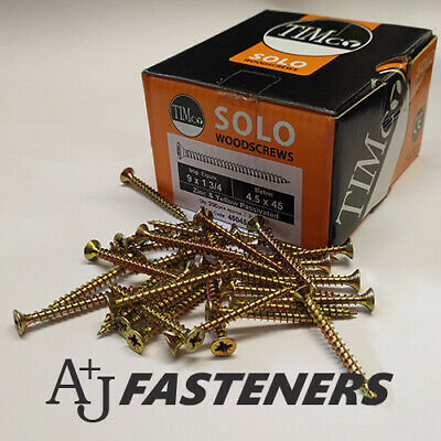 £2.79 • Buy 100 X TIMCO SOLO WOOD CHIPBOARD SCREWS - CHIPPY ZINC YELLOW COUNTERSUNK
