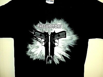 $ CDN24.88 • Buy Vintage GUN STORE 90s Las Vegas Nevada NEW Double Sided 50/50 T Shirt Size S