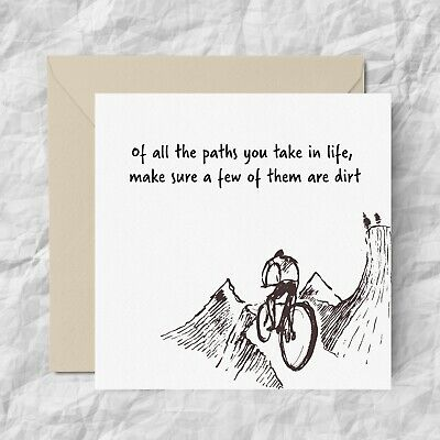 £3.60 • Buy MOUNTAIN BIKE Funny Cycling Birthday Greeting Card Him Her HUSBAND SON Brother