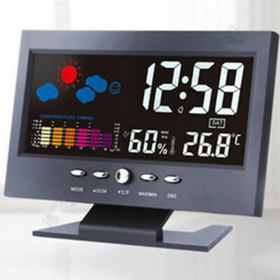 Projection LCD Display Digital Alarm Clock LED & Temperature Weather Station UK. • 8.46£