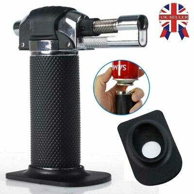 Refillable Butane Gas Micro Blow Torch Lighter Cooking & Baking Kitchen Tool UK • 8.39£