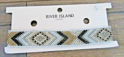 River Island Womens Jewellery Beaded Mozaic Choker Brand New With Tag RRP £12 • 6.99£