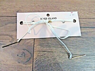 River Island Womens Jewellery White Bow Choker Brand New With Tag Rrp £10 • 8£