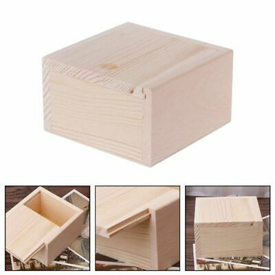 Lovely Small Plain Wooden Case Box Storage For Jewelry Small Gadgets Wood Gift • 4.29£