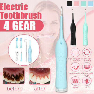 Electric Sonic Dental Scaler Tartar Calculus Plaque Remover Teeth Stains Cleaner • 9.99£