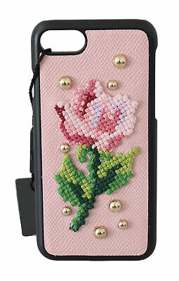 £142.39 • Buy DOLCE & GABBANA Phone Case Cover Pink Flower Cross Stitch Stud IPhone 7 RRP $400