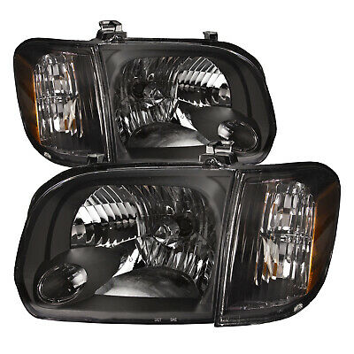 $116.83 • Buy For 05-07 Toyota Sequoia/05-07 Tundra (Double Cab Only) 4pc Headlights Blk Set