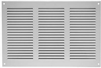 Air Vent Grille Cover 300 X 200mm 11 X 8inch White Ventilation Cover, Metal, , • 11.92£
