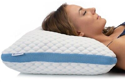 Luckybacks Memory Foam Pillow With Adjustable Loft And Cushioned Cover. • 29.99£