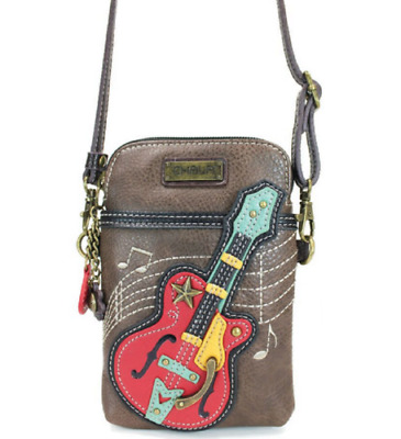 $ CDN42.84 • Buy New Chala Guitar Music Brown Cell Phone Crossbody Purse Adjustable Strap