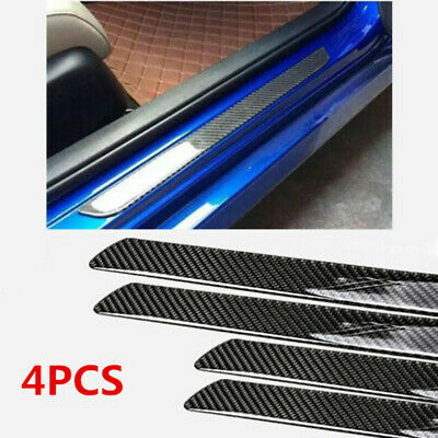 $41.88 • Buy 4x Accessories Carbon Fiber 5D Stickers Car Door Sill Protector Parts Universal