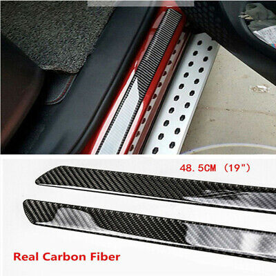 $42.91 • Buy Car Stickers Parts Accessories Carbon Fiber Door Sill Protector Scuff Plate Trim