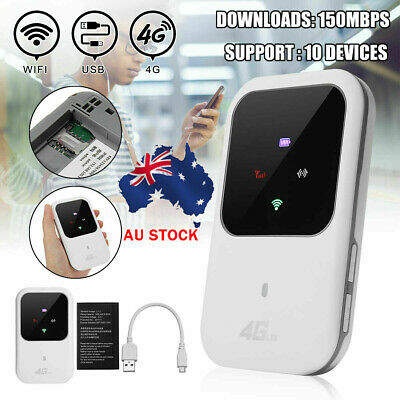AU45.99 • Buy Mini 4G LTE Wifi Router 150Mbps High Speed Modem Mobile Wireless Hotspot AU