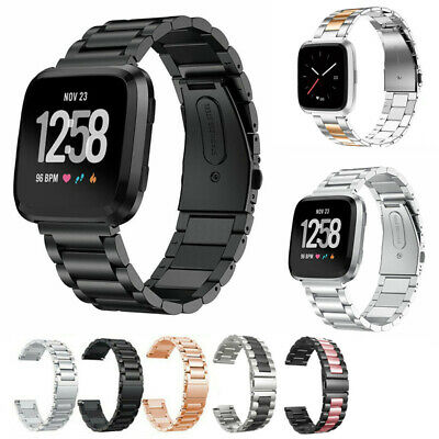 $ CDN10.90 • Buy Replacement Strap For Fitbit Versa1/2 Stainless Steel Metal Watch Band New