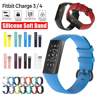 AU2.99 • Buy Fitbit Charge 3/4 Bands Sports Watch Bracelet Wrist Strap Breathable Replacement
