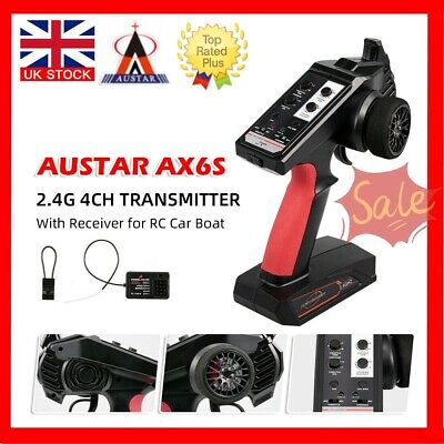 AUSTAR 2.4GHz 4CH Transmitter Radio Remote Controller For RC Car + Receiver UK • 23.59£