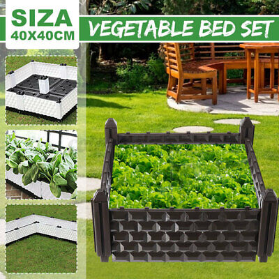 40x40CM Planter Raised Bed Plastic Garden Flower Pot Vegetables Box Outdoor  • 10.99£