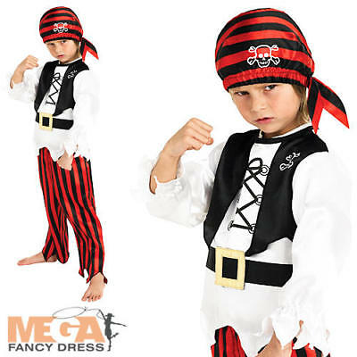 Pirate Boys Fancy Dress Childs World Book Day Halloween Childrens Costume Outfit • 10.99£