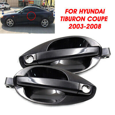 $43.23 • Buy 2X Outside Door Handle Catch Left Right Set ABS For Hyundai Tiburon Coupe 03-08