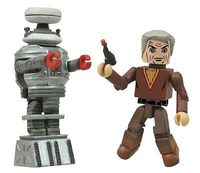 AU17.09 • Buy Lost In Space Dr. Smith And B9 Robot 2-Pack Minimates Figure