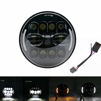 AU52.50 • Buy DOT 7 Inch Motorcycle LED Headlight Hi-Lo Beam Fit For Harley Street Glide