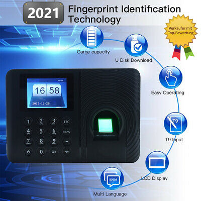 £29.70 • Buy Biometric Time Attendance Machine Time Recorder Clock Employee Checking-in