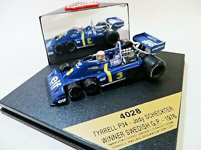 QUARTZO 4028 TYRRELL P34 F1 CAR - JODY SCHECKTER, #3, 1st SWEDISH GP 1976' 1:43 • 18.99£