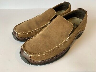 ROCKPORT XCS -  Size 9.5 M, Beige Mens Leather Suede Loafers, Moccasins • 35£