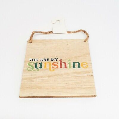 NEW You Are My Sunshine Square Mini Wooden Hanging Sign Plaque 4.5 In Decoration • 2.24£