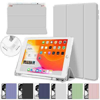 AU16.59 • Buy For IPad 9.7/10.2/Pro 10.5 Slim Smart Case Clear Back Cover W/ Pencil Holder New