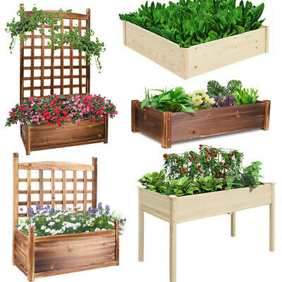 UK Reusable Garden Raised Bed Elevated Wooden Plant Flower Vegetable Planter Pot • 35.97£
