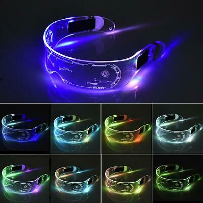 LED Glasses Wire Neon Party Luminous Glasses Light Up Glasses Rave Party Decor • 9.99£