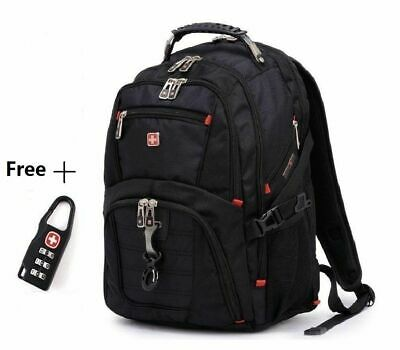 Swiss Men 17  Laptop Travel ScanSmart School Backpack Rucksack Outdoor Bag • 28.99£