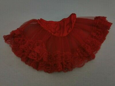 Lady's Woman's Red 2 Layered Tutu Ruffle Skirt, Great For Fancy Dress One Size • 9.99£