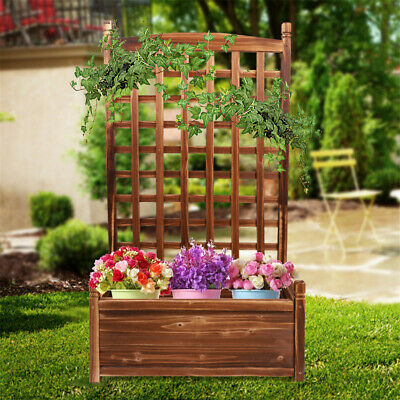 Heavy Duty Wooden Raised Garden Bed Planter Box Yard Plant Stand Corner Bedding • 35.95£