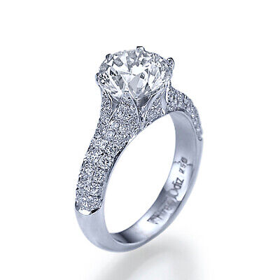 $ CDN3295.50 • Buy 1 1/2 Carat D SI1 ROUND CUT DIAMOND ENGAGEMENT RING 14K WHITE GOLD JEWELRY