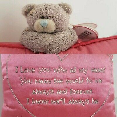 £9.99 • Buy Me To You Pink With Silver Writing And Detail 'I Love You Pillow'  (C2)